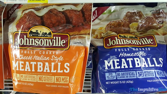 Johnsonville 3 Cheese Italian Style Meatballs and Homestyle Meatballs