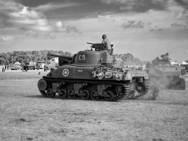 Wargames - Sherman tank on the move
