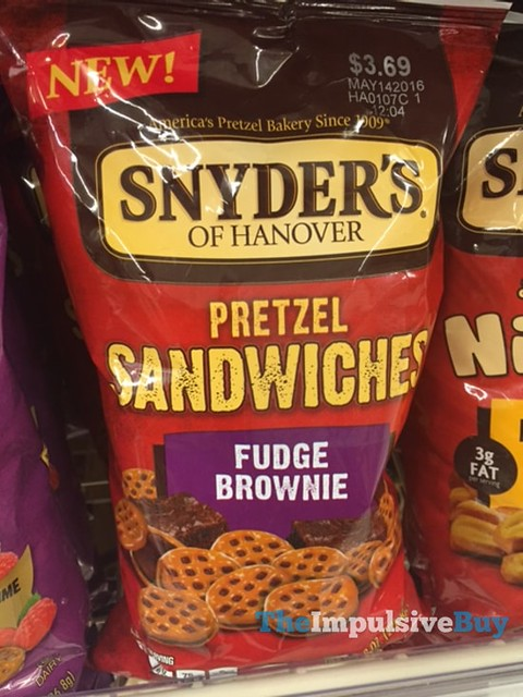 Snyder's of Hanover Fudge Brownie Pretzel Sandwiches