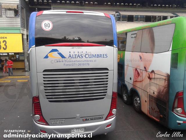 Buses Altas Cumbres - Santiago - Marcopolo Paradiso 1800 DD / Volvo (GLTZ56)