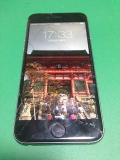 73_iPhone6のフロントパネルガラス割れ