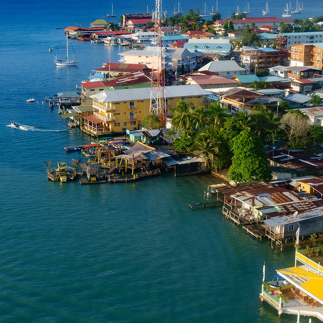 Aerial view of Bocas del Toro