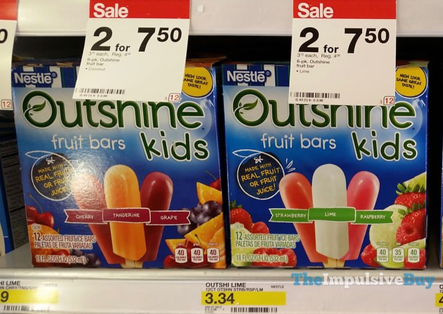 Nestle Outshine Kids Fruit Bars