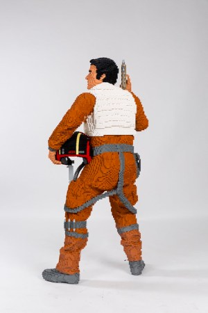 LEGO Star Wars Life Size Sculpture Poe