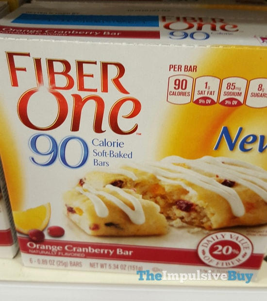 Fiber One Orange Cranberry 90 Calorie Soft-Baked Bars