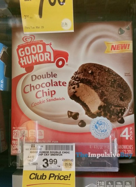 Good Humor Double Chocolate Chip Cookie Sandwich