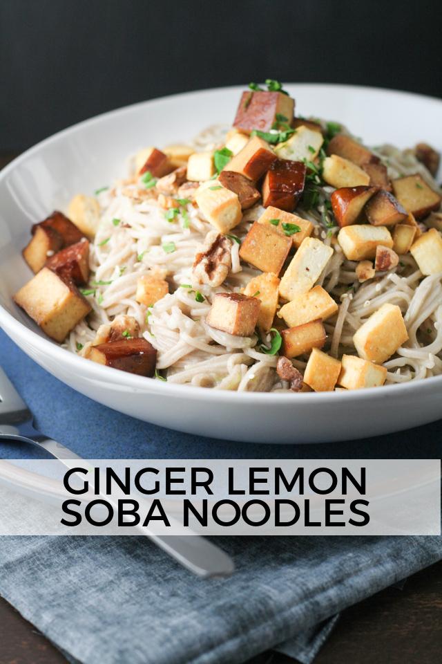 Ginger Lemon Soba Noodles Recipe on www.inthiskitchen.com