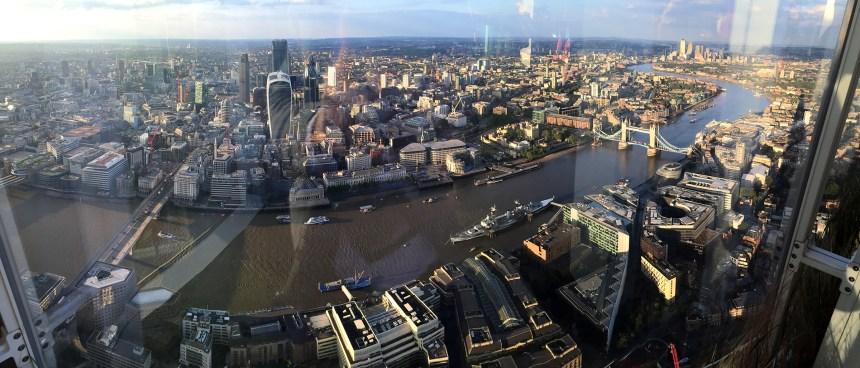 Vista del Támesis desde The Shard en Londres
