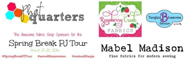 Spring Break PJ tour Fabric Sponsors