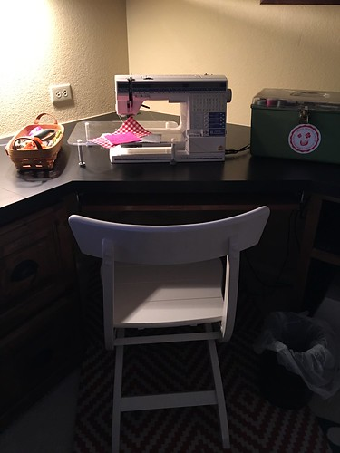 Sewing space set up!