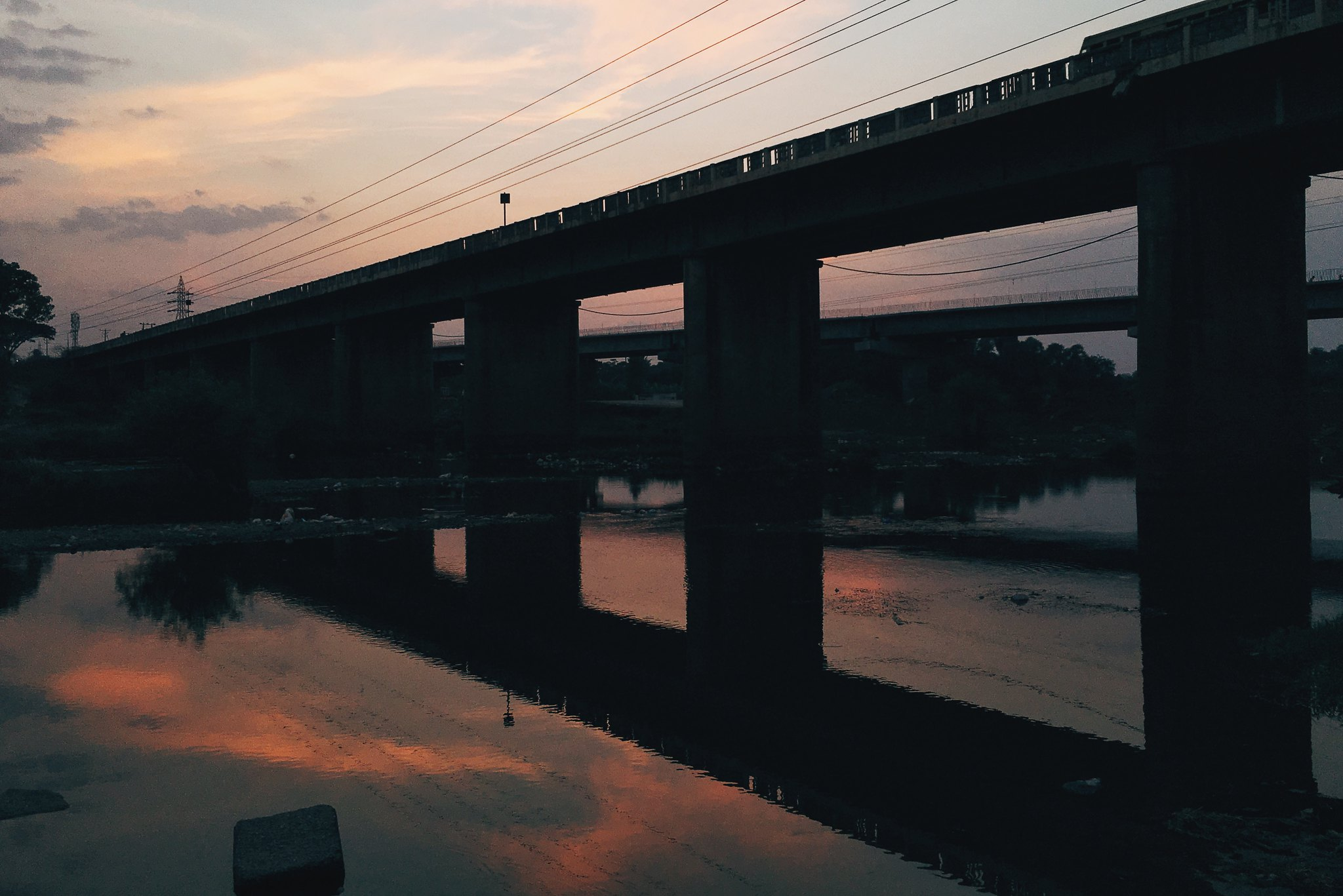 A bridge across the Kabini.