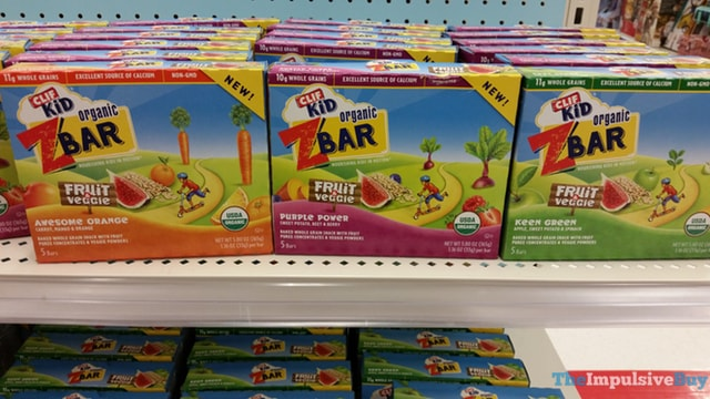 Clif Kid Fruit & Veggie ZBar (Awesome Orange, Purple Power, and Keen Green)