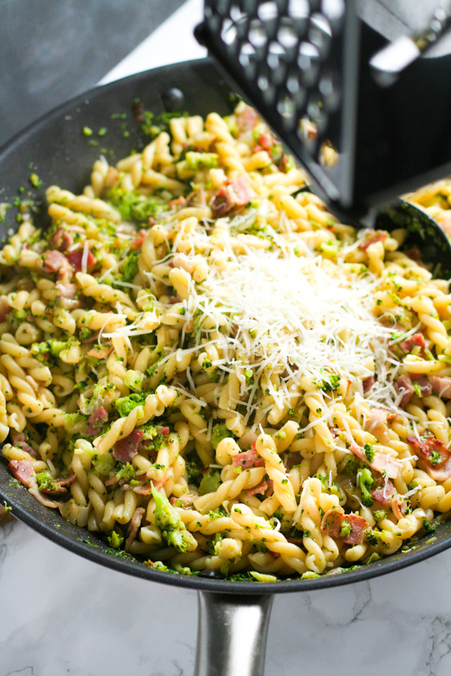 Bacon and Broccoli Pasta | in this kitchen