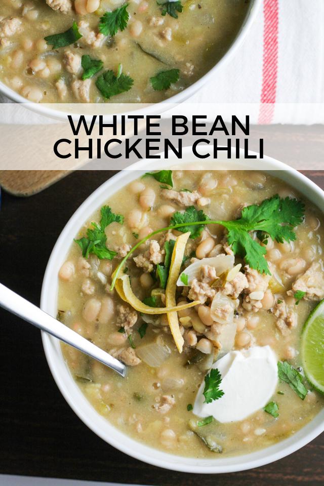 Green Chicken Chili with White Beans Recipe on www.inthiskitchen.com
