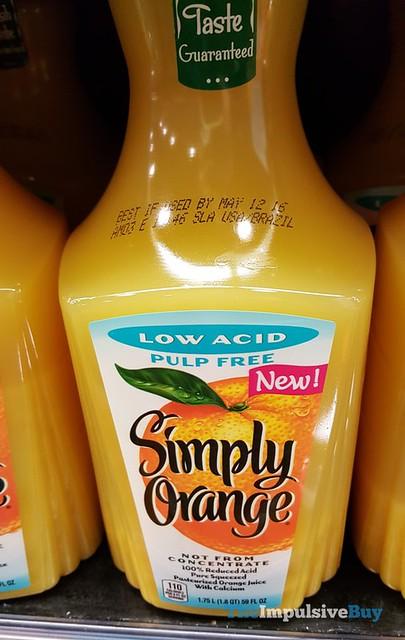 Simply Orange Low Acid Pulp Free Orange Juice