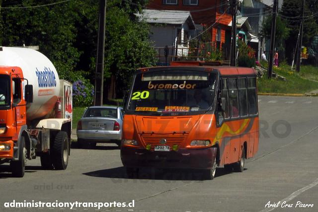 Micro 20 Valdivia - Niebla / Metalpar Pucará 2000 / Mercedes Benz (TJ9278)