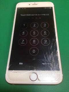 74_iPhone6Plusのフロントパネルガラス割れ