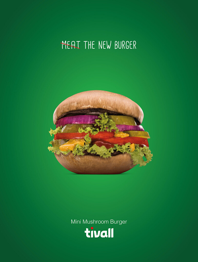 Tivall Musroom Turger - Meat the new burger