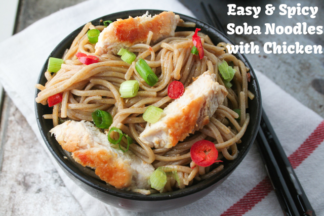 Easy Spicy Soba Noodles on www.inthiskitchen.com