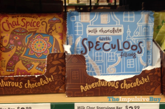 World Market Milk Chocolate with Chai Spice Filling and Milk Chocolate with Speculoos Filling