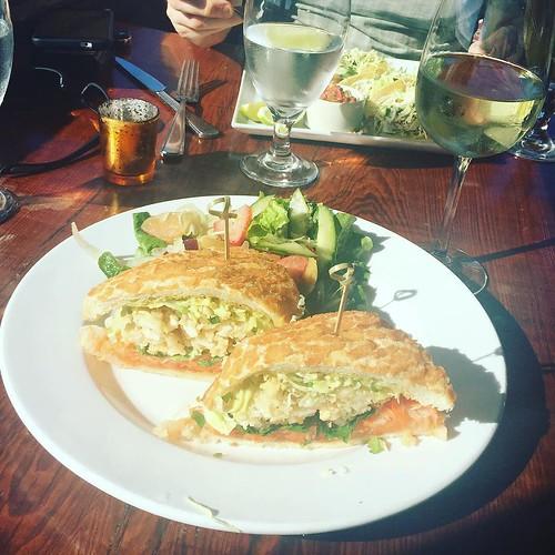Crispy calamari bahn mi. Delicious!