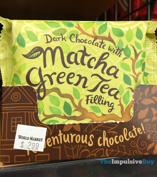 World Market Dark Chocolate with Matcha Green Tea Filling