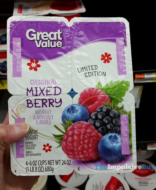 Great Value Limited Edition Mixed Berry Yogurt