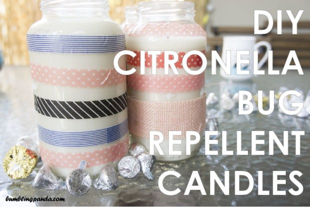 DIY Citronella Bug Repellent Candles