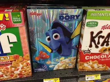 Hey look. Finding Dory cereal