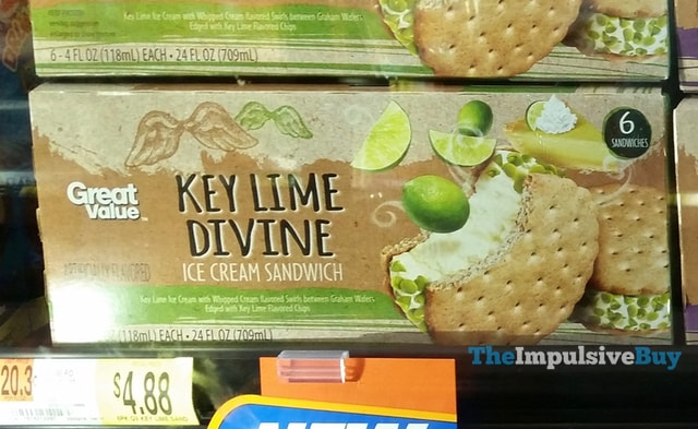 Great Value Key Lime Divine Ice Cream Sandwich