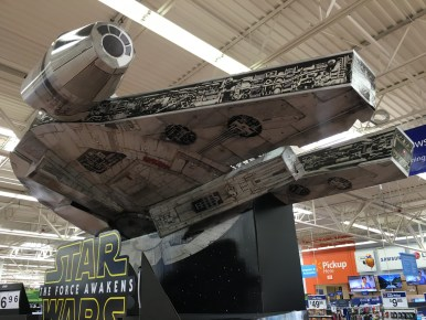 Seriously, like anything else is gonna top a giant cardboard millennium falcon for today's pic