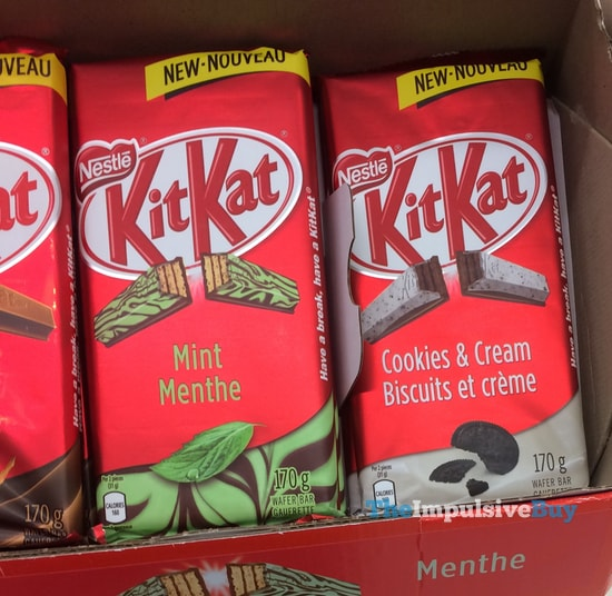 Nestle Kit Kat Mint and Cookies & Cream Tablet Bars