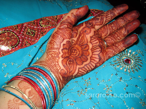 My Mendhi hands for a wedding in India