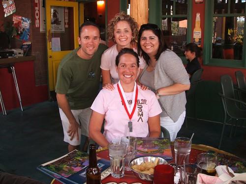 Celebratory post-race margarita