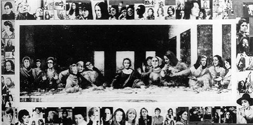 Some Living American Women Artists / Last Supper (1971) - Mary Beth Edelson