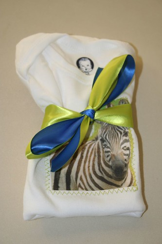 African onesies, Zebra, wrapped and ready