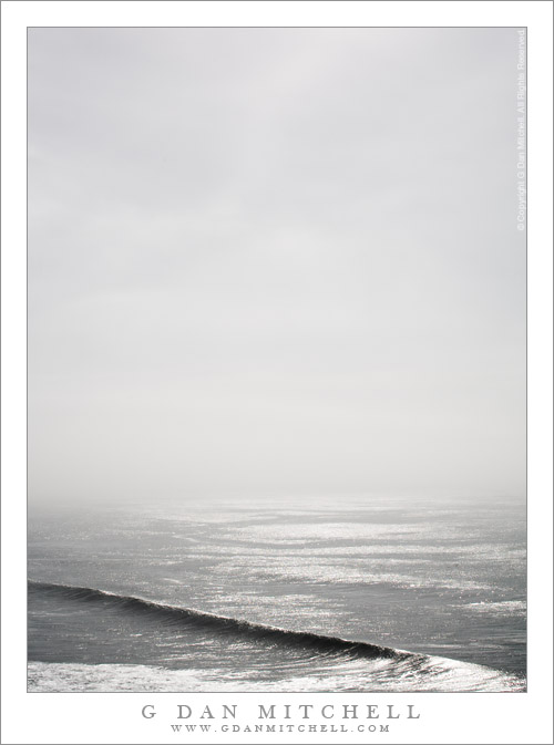 Wave, Fog, and Reflected Light - Pacific Ocean