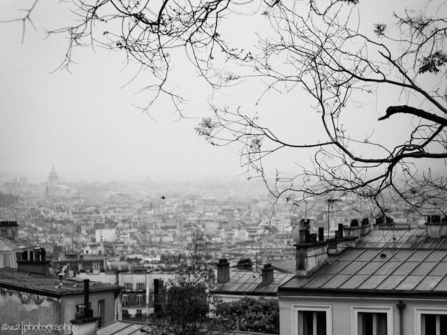 Paris from Montmartre hill