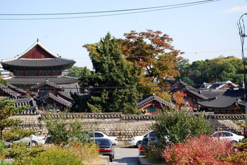 Changdeokgung Palace, from Bukchon Neighborhood