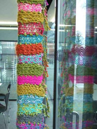 kids yarn bomb