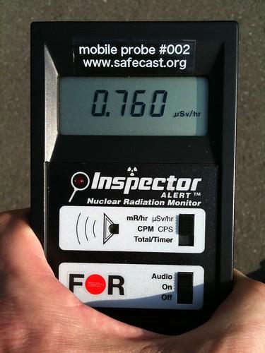 Safecast probe #2 - Japan - Chiba