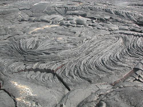 Pahoehoe swirls