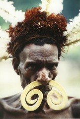 Asmat tribes man ...