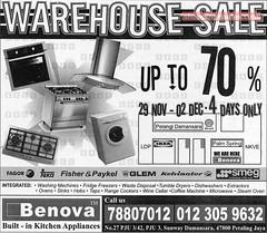 20071129 Benova Warehouse Sale