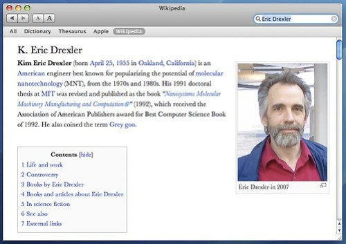 Eric Drexler on Wikipedia - after