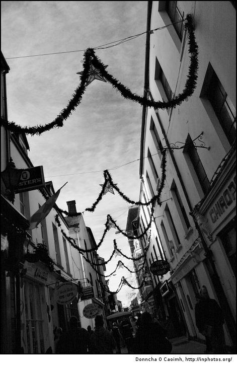 Christmas decorations on high