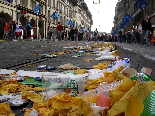 Debris at Euro 2008