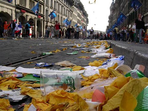 Debris at Euro 2008