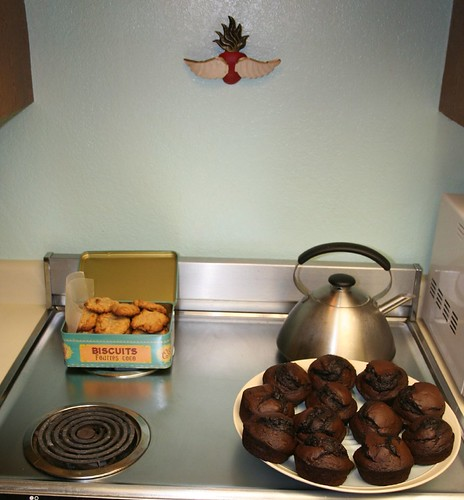baked goods, cooling on the stove