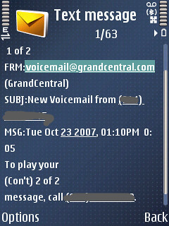 GrandCentral - Txt Alert